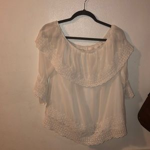 Off the Shoulder White Maurice's Top!